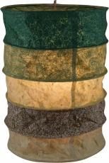 runde Papier Hängelampe, Lokta Papierlampenschirm Everest, handgeschöpftes Papier - grün