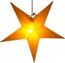 Wetterfester 60 cm Außenstern Kassandra Outdoor gelb, Faltstern mit 5 Spitzen