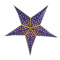 Faltbarer Advents Leucht Papierstern, Weihnachtsstern Andromeda - blau