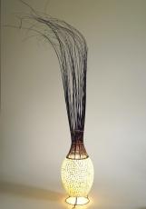 Tischlampe / Tischleuchte Limura - in Bali handgemacht aus Naturmaterial