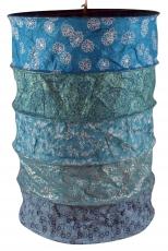 runde Papier Hängelampe, Lokta Papierlampenschirm Everest, handgeschöpftes Papier - blau