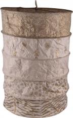 runde Papier Hängelampe, Lokta Papierlampenschirm Everest, handgeschöpftes Papier - beige
