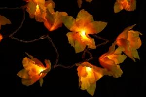 Lotus LED Lichterkette 20 Stk. - gelb