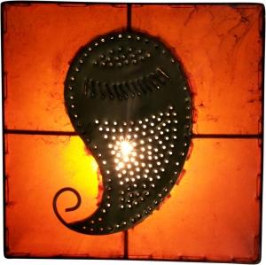 Henna - Leder Wandlampe / Wandleuchte Mango