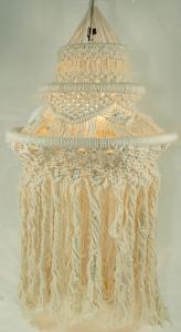 Deckenlampe / Deckenleuchte Sioni - in Bali handgefertigt aus Macramee
