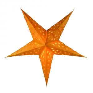 Faltbarer Advents Leucht Papierstern, Weihnachtsstern Astor - orange