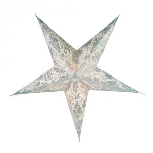 Faltbarer Advents Leucht Papierstern, Weihnachtsstern Cassiopeia