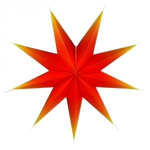 Faltbarer Advents Leucht Papierstern, Weihnachtsstern Orion - rot