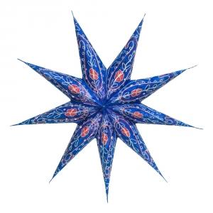 Faltbarer Advents Leucht Papierstern, Weihnachtsstern Stella - blau