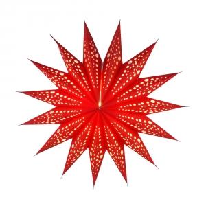 Faltbarer Advents Leucht Papierstern, Weihnachtsstern Aristea - rot