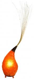 Stehleuchte Kokopelli Kuhul Floor orange H1415 handgemachte Stimmungsleuchte, Fiberglas