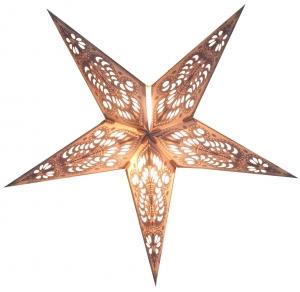 Faltbarer Advents Leucht Papierstern, Weihnachtsstern Menor small - nature