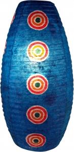 Ovaler Lokta Papierlampenschirm, Hängelampe Corona Retro