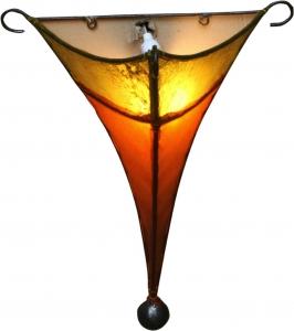 Leder Wandlampe / Wandleuchte `Karakorum`