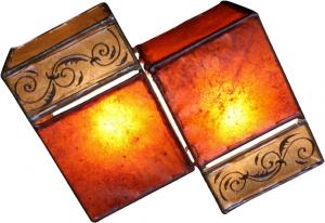 Henna - Leder Wandlampe / Wandleuchte `Jaipur`
