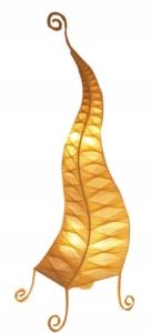 Stehlampe/ Stehleuchte Zipfel zweifarbig 120 cm handgemachte Stimmungsleuchte, Baumwolle