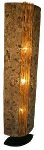 Stehlampe / Stehleuchte Lava 150 cm - in Bali handgemacht aus Naturmaterial, Lavastein,