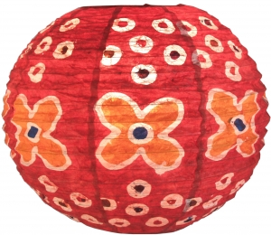 Corona round 30 cm runder Lokta Papierlampenschirm Flower Power