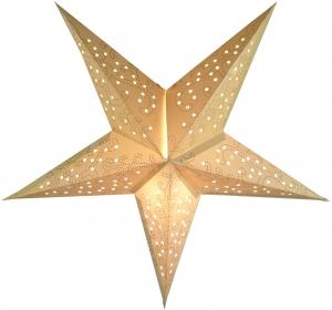 Faltbarer Advents Leucht Papierstern, Weihnachtsstern Tantalos small - natur