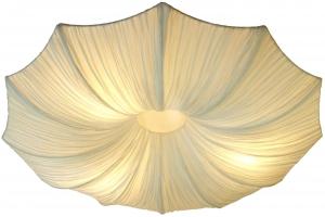 Deckenlampe/Deckenleuchte Datura - handgefertigte Designleuchte aus Bali, Seidenstoff, handgemacht in Bali, Baumwolle