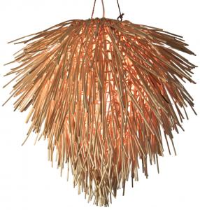 Deckenlampe / Deckenleuchte Rasta - in Bali handgemacht aus Naturmaterial, Rattan,