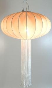 Deckenlampe/Deckenleuchte Peking, handgemacht in Bali, Baumwolle