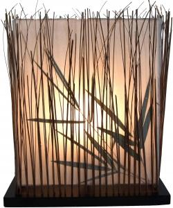 Tischlampe / Tischleuchte Nil - in Bali handgemacht aus Naturmaterial