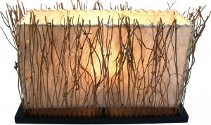 Tischlampe / Tischleuchte Malawi - in Bali handgemacht aus Naturmaterial, Kokosfaser,