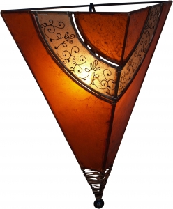 Henna - Leder Wandlampe / Wandleuchte `Venus oriental`