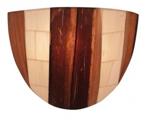 Wandlampe / Wandleuchte Rinjani - in Bali handgefertigt aus Naturmaterial, Bananenblätter,