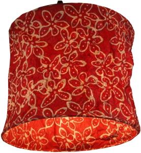 runde Papier Hängelampe, Papierlampenschirm Annapurna, handgeschöpftes Papier - rot/Blume