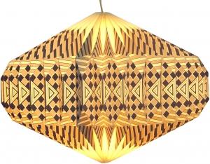 Origami Design Lampenschirm Ufo - weiß/grau