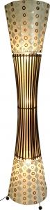 Stehlampe / Stehleuchte Mombasa- in Bali handgemacht aus Naturmaterial, Bambus, Capiz / Perlmutt