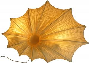 Wandleuchte Simon- handgefertigte Designleuchte aus Bali, Seidenstoff