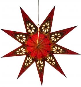 Faltbarer Advents Leucht Papierstern, Weihnachtsstern Feanor