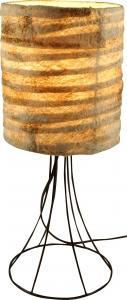 Tischlampe / Tischleuchte Havanna - in Bali handgemacht aus Naturmaterial, Kokosfaser,