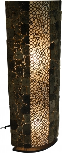 Stehlampe / Stehleuchte Lava bamboo 150 cm - in Bali handgemacht aus Naturmaterial, Lavastein,