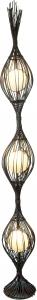 Stehlampe / Stehleuchte Kokopelli Soriso 190 cm Floor - exotische Leuchte aus Natur-Material