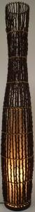 Stehlampe / Stehleuchte Teodora 105-125 cm - in Bali handgemacht aus Naturmaterial, Luftwurzel