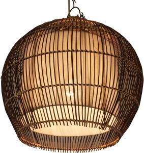 Deckenlampe / Deckenleuchte Camilio - in Bali handgemacht aus Naturmaterial, Rattan, Baumwolle