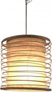 Faltbarer Lampenschirm / Deckenlampe / Deckenleuchte Malai 30, handgemacht in Bali, Baumwolle