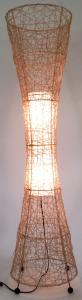 Stehlampe / Stehleuchte Komodo - in Bali handgemacht aus Naturmaterial, Rattan,