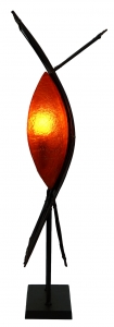Stehlampe / Stehleuchte Kokopelli Mata Lamp - exotische Leuchte aus Natur-Material