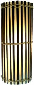 Wandlampe / Wandleuchte, Bambus Designleuchte Mirabilis - in Bali handgefertigt aus Naturmaterial, Bambus,