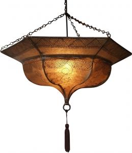 Henna - Leder Deckenlampe / Deckenleuchte Tuareg