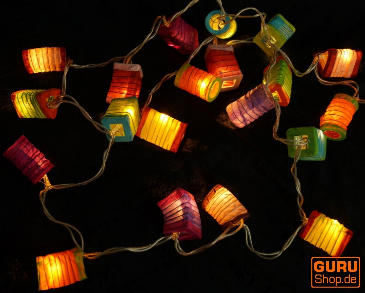 led lichterkette lampions mix bunt aus lichterketten. Black Bedroom Furniture Sets. Home Design Ideas