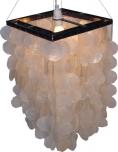 Deckenlampe / Deckenleuchte Sabah, Muschelleuchte aus hunderten Capiz, Perlmutt-Plättchen
