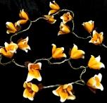 Exotische  Blüten LED Lichterkette Chiang Mai 20 Stk - orange/weiß
