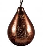 verkupferte ambiente Deckenleuchte in marrokanischem Design, orientalische Deckenlampe