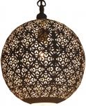 weiße Metall Deckenleuchte in marrokanischem Design, orientalische Kugel Deckenlampe weiß